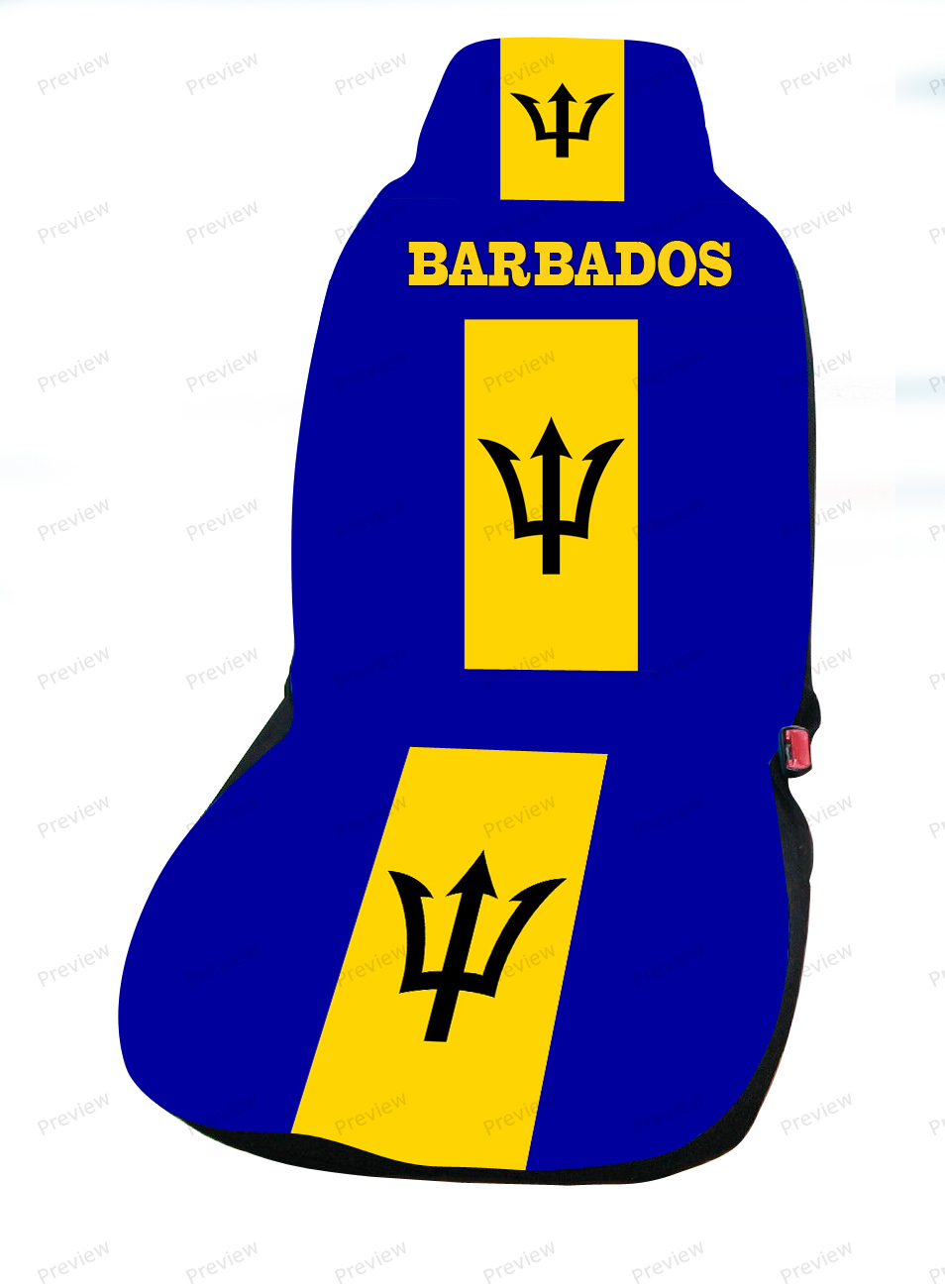 Barbados image car cover seat