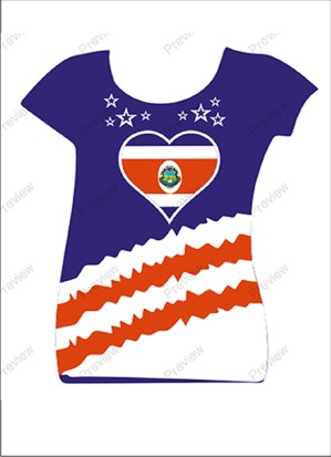 images/Costa Rica image t-shirt for women.jpg