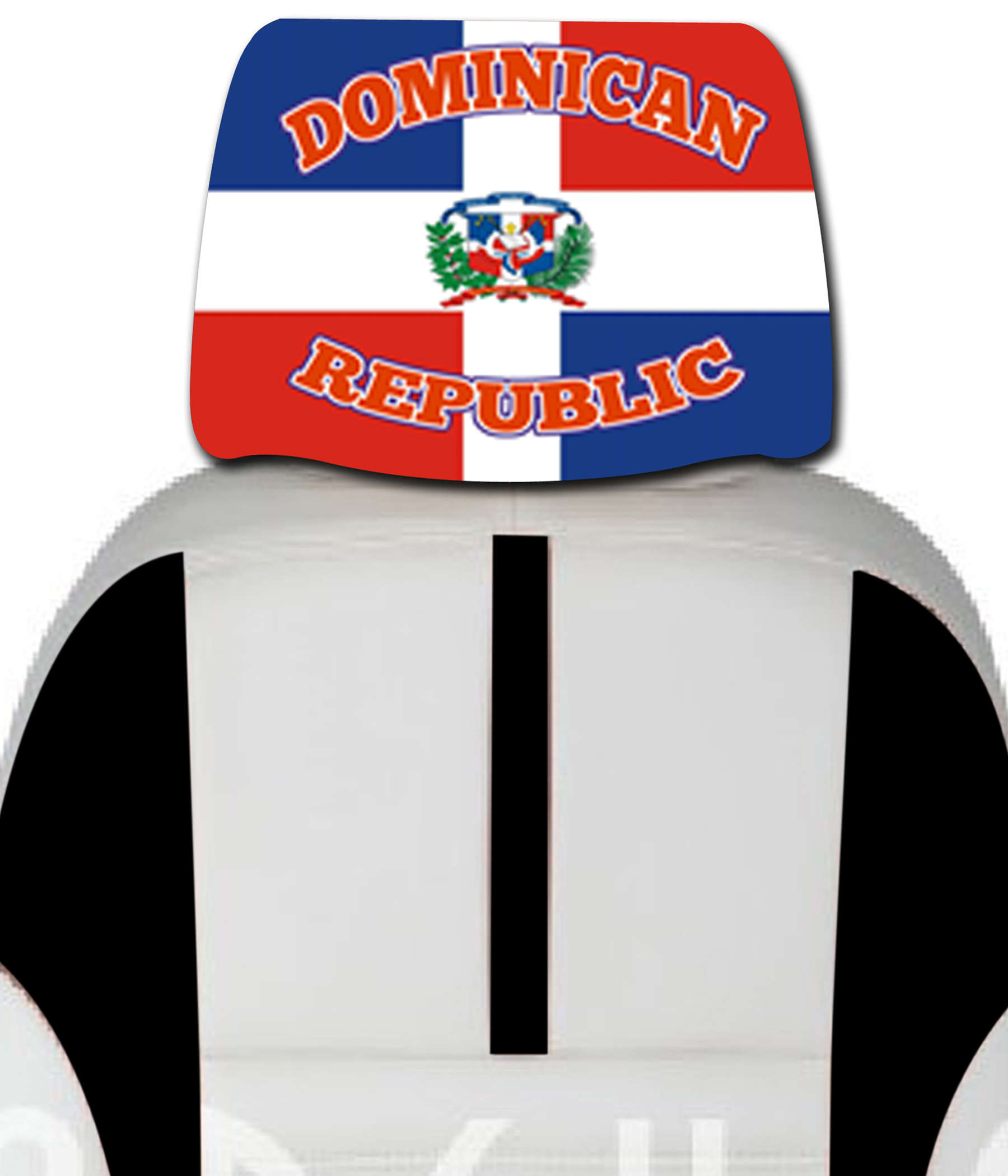 images/Dominican Republic headrest car cover seat flag.jpg