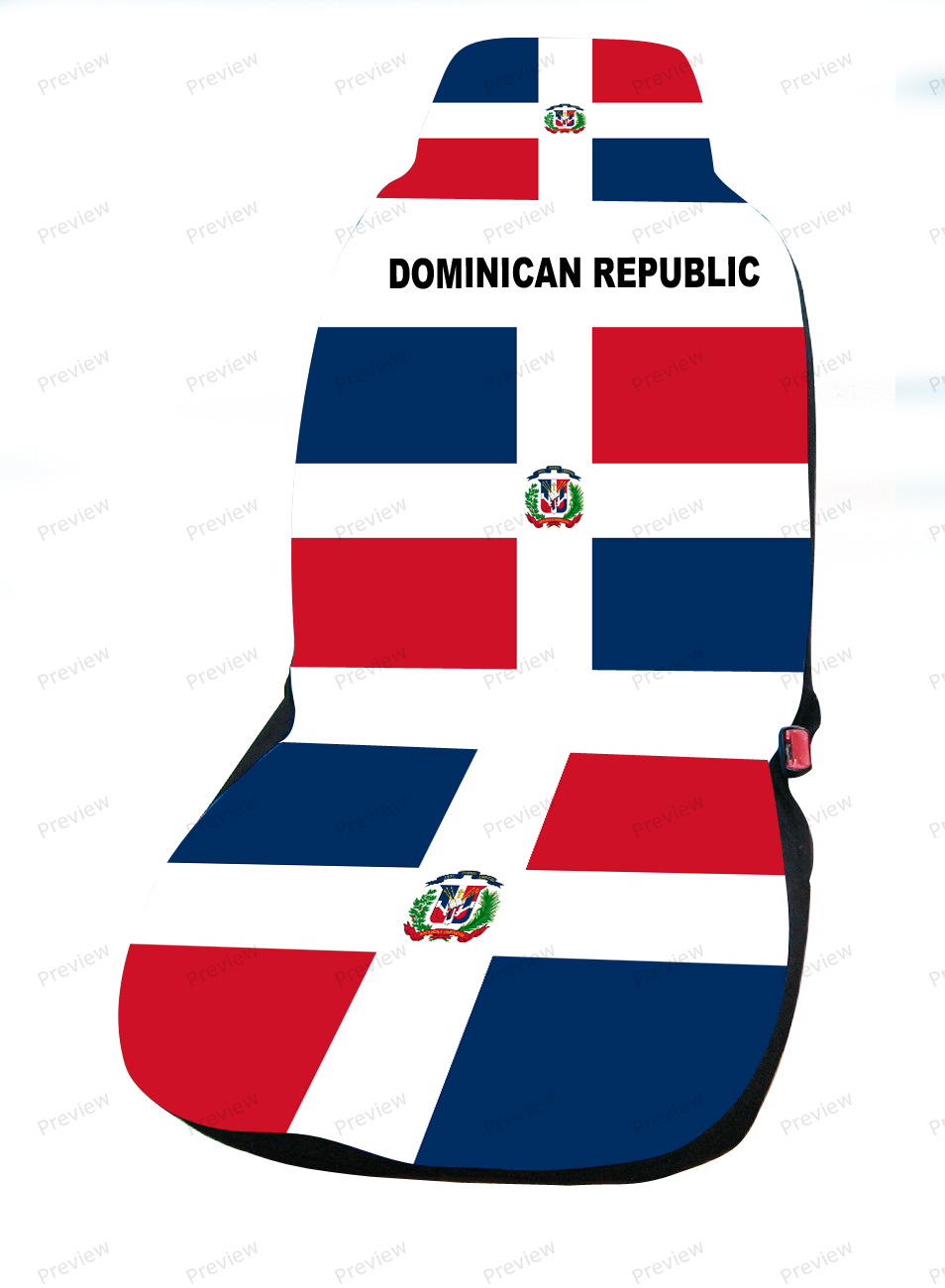images/Dominican republic image car cover seat.jpg