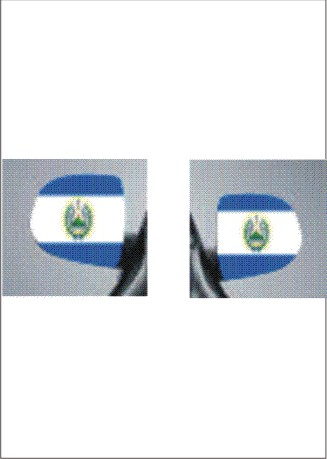 images/El Salvador images car mirror flag.