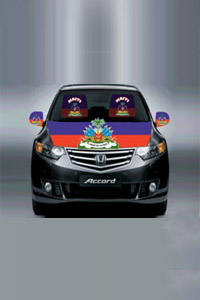 Haiti car cover seat flag